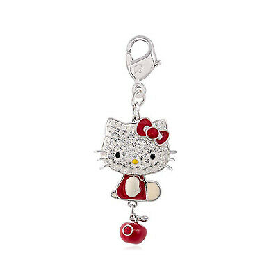 swarovski originali hello kitty charms red apple ciondolo per collana con gatto