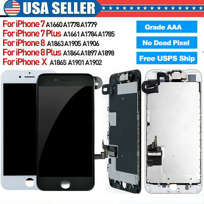 For iPhone X 7 Plus 8 8 Plus LCD OLED Touch Screen Full Replacement With Camera