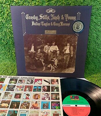 CROSBY STILLS NASH YOUNG DEJA VU 1970 • COMPLETE +INNER Neil MONARCH TEXTURE CVR
