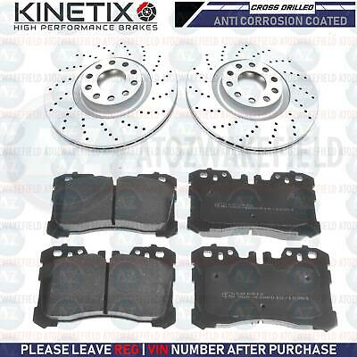 FOR LEXUS LS LS460 LS600h FRONT CROSS DRILLED PERFORMANCE BRAKE DISCS PADS 357mm