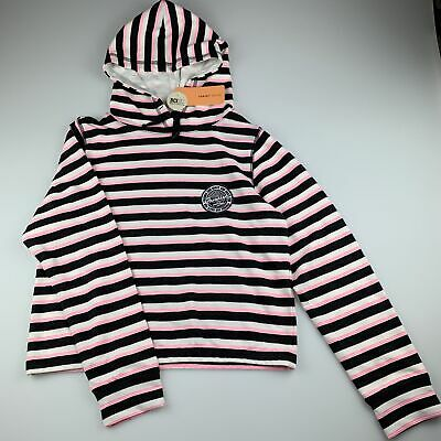 Girls size 12, Target, soft feel striped hooded sweater / jumper, NEW