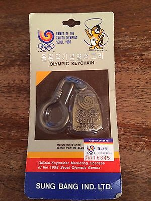 1988 Olympic Games Seoul OFFICIAL Logo Keychain BRAND NEW in Original Package