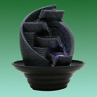 BARGAIN!!  T928 - Indoor Tabletop Fountain Oriental Bowls Water Feature with LED