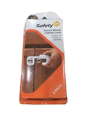 Safety 1st  Secure Mount Child Proof Cabinet Lock 2 Pack - Brand New