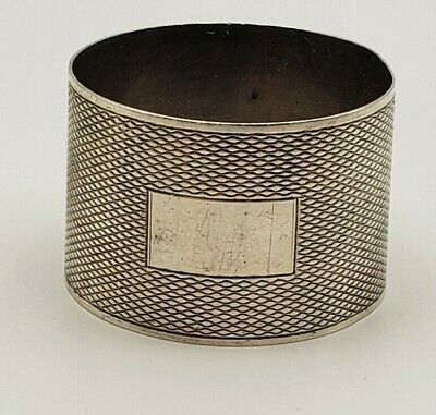 Wide Vintage English Sterling Silver Napkin Ring from Birmingham England #792