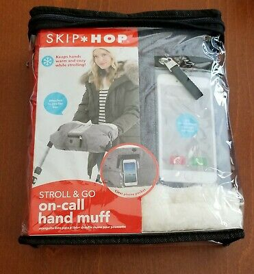 Skip Hop Stroll & Go On-Call Hand Muff-Heather Grey - NEW