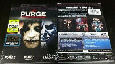 The Purge 3 Movie Collection 4K Ultra Hd Blu-Ray (6 Disc Set And Digital Copies)