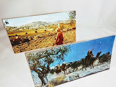 Holy Land Vintage Christmas Cards With Leaves And With Seeds