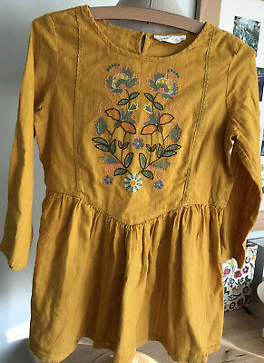 Vintage Tammy Girl Mustard Embroidered Top 13 - 14 Yrs