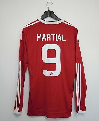 Manchester United Home Shirt Adult Medium MARTIAL #9 2015/2016 Long Sleeves