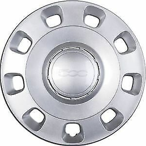 "New Fiat 500 Wheel Trim Genuine pt - 51787644 14"" Inch Hub Cap Silver"