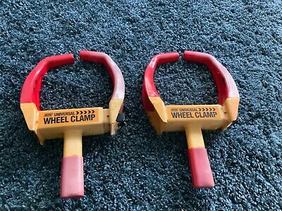 2 Maypole Security Universal Wheel Clamp  Cars Twin Caravans And Motorhomes X2