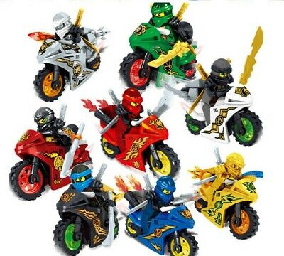 Ninjago Motorcycle Minifigures Ninja Mini Figures Fits Lego Blocks Toys