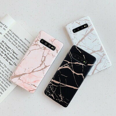 Shiny Marble Soft Silicone Case Cover For Samsung Galaxy S10 S9 S8 Plus Note 9 8