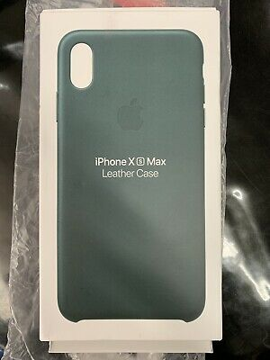 Apple Authentic OEM Leather Case for iPhone XS Max - Forest Green