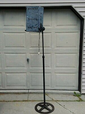 VTG 20s ANTIQUE CAST IRON STEAMPUNK INDUSTRIAL THEATER STAGE LIGHT LAMP DETROIT