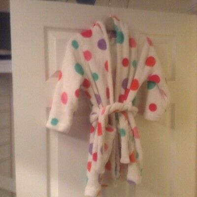 Girls Spotty Dressing Gown- Marks And Spencer - Aged 4-5yrs