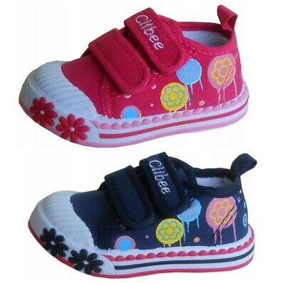 Girls canvas shoes trainers slippers size 3.5-8 UK BABY INFANT KIDS PUMPS