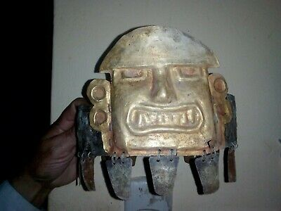Nice crown Silver and Gold tumbaga.Precolumbian,Moche,Mochica,chavin.maya,Chimu