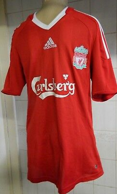 Adidas CarIsberg LIVERPOOL This is ANFIELD TORRES 9 football shirts Size UK 8