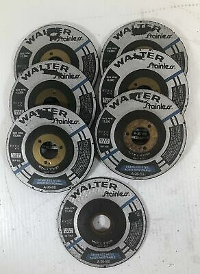 Walter Stainless Grinding Wheel A-30-SS 08-F 450 and 452 (Lot of 7)