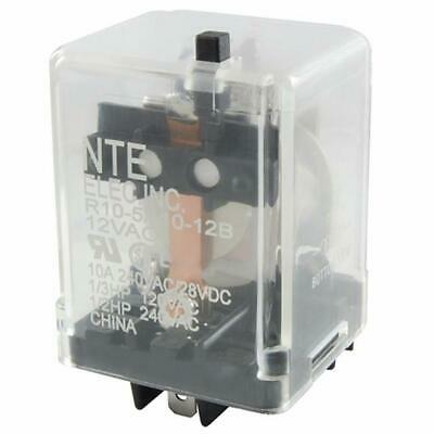 NEW NTE R10-14A10-120B 120 Volt AC Coil, 10 Amp 3PDT General Purpose Relay