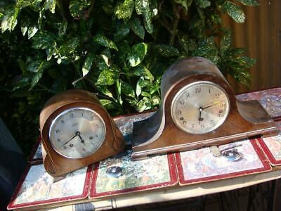 Vintage Garrard Westminster  Chimes  & strike  Mantle Clock & Key & 2 Pendulum