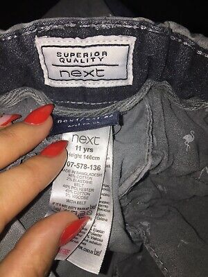 Next Boys Grey Jeans Age 11 Years 98% Cotton