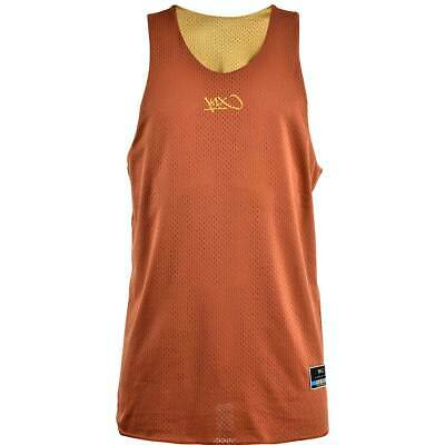 K1X Reversible Practice Basketball Jersey - Black Gold Cognac Red Silver Navy