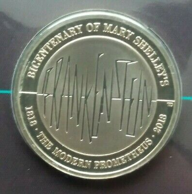 2018 Mary Shelley's Frankenstein £2 Two Pound Coin,B.UNC.Royal Mint Sealed Pack.