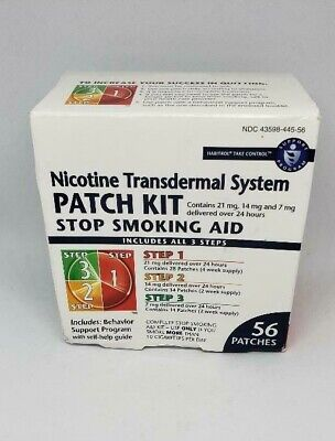 1-Box Transdermal System Patch Stop S Aid Kit, 56 Counts-Free Shipping