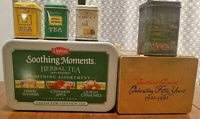 Vintage Lipton,Bigalow,Richelied Midas& Wagner's Tea Advertisement Tins Lot of 6