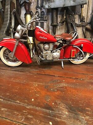 Indian Chief Motorcycle 1948 Tin Toy Retro New