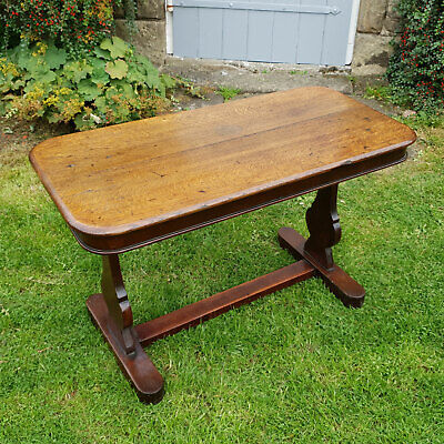 Victorian Oak Console Table C1870 (Reading Side Occasional Table)
