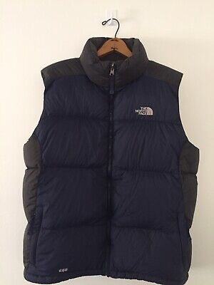 THE NORTH FACE Mens 550 Goose Down Feather Navy Puffer Vest (Size: L)