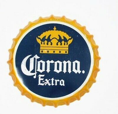 Corona  beer Tin Bottle Cap Sign Man Cave Bar Office Vintage Pub 14 inches