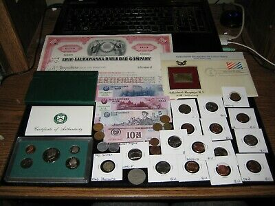 Junk Drawer Coin lot 1997 PROOF Set Silver Coin RAILROAD Mint Coins Old Coins