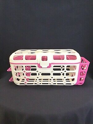 Munchkin Dishwasher Basket Pink White Accessories Nipples Straw Small Items Baby