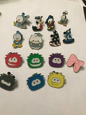 15 Disney Themed Pins Lot M