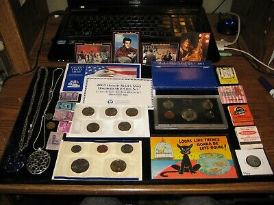 Junk Drawer Coin Lot 2003 Mint Set Proof SEt Lot Golden Dollar Jewelry Lot Stamp
