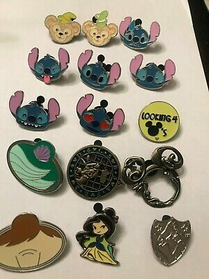 15 Disney Themed Pins Lot P