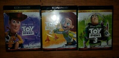 Disneys Toy Story 1 2 and 3 on 4K Bluray and Digital New