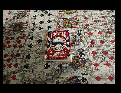Escape Map Wwii Commemorative Bicycle Deck Playing Cards By Uspcc Magic Tricks