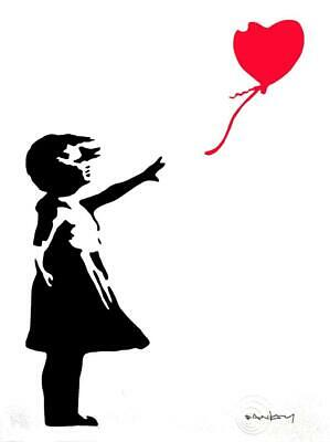 BANKSY - LIMITED EDITION #21 of 200 * GIRL WITH RED BALLOON *