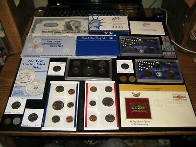Junk Drawer Coin Lot 2006 Proof Set Lot Golden Dollar RAILROAD Mint Set Nickels