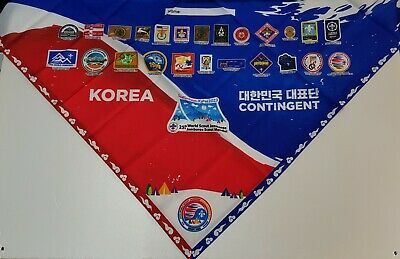 24th World Scout Jamboree 2019  / KOREA Contingent UNIFORM Neckerchief  patch