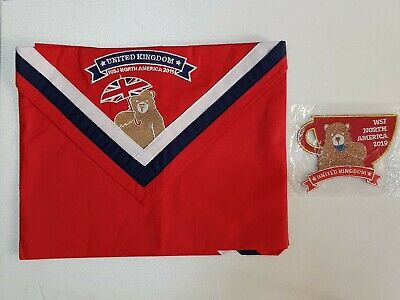 RARE 24th World Scout Jamboree 2019 UK Contingent UNIFORM neckerchief & PATCH
