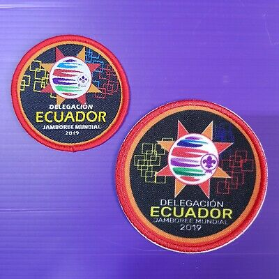 24th World Scout Jamboree 2019 Contingent  Official PATCH , ECUADOR badge set