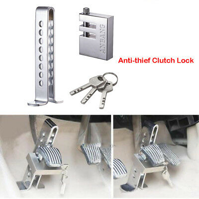 Car Stainless Steel Brake Clutch Foot Pedal Lock Anti-Theft Lock Security