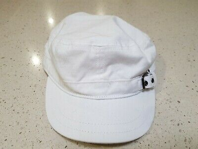 White HURLEY O & O Military HAT  BRAND NEW WITH TAGS BNWT unt Womans Ladies Girl
